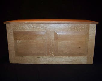 White Oak Hand Rubbed Chest with Cedar Lining