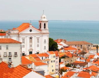 Lisbon, Portugal, Mirador, Rooftops, Fine Art Prints, Wall Art, Lisbon Photography, Lisbon Wall Art,  Lisboa, Lisbon Wall Art, Lisbon Prints