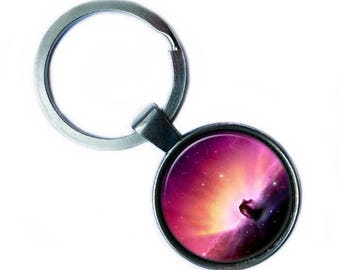 NASA Photograph Nebula Across the Universe Keychain Keyring