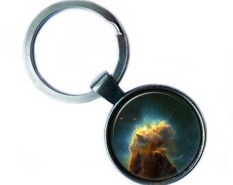 NASA Photograph Eagle Nebula Keychain Keyring
