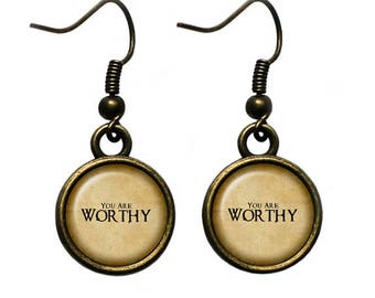 You Are Worthy Earrings