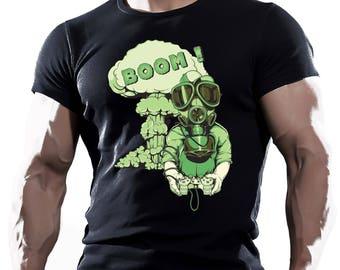 Boom! Black Men's Cotton T-shirt