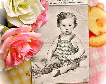 Vintage 1940s Knitting Pattern Copy For A Baby's Sun Suit In 4 Colours Size 1-2 Years