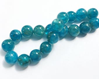 Apatite Gemstone Beads - Round - 6mm