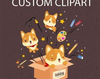 Custom Clipart Non Exclusive / Digital Clip Art for Commercial and Personal Use / MADE TO ORDER