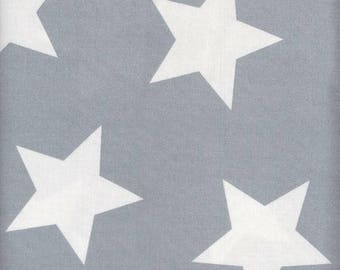 Au maison oilcloth star giant Dusty blue stars