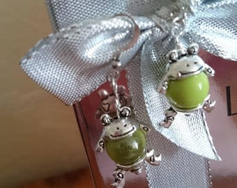 "ORIGINAL gift EARRINGS ""Small frogs"""