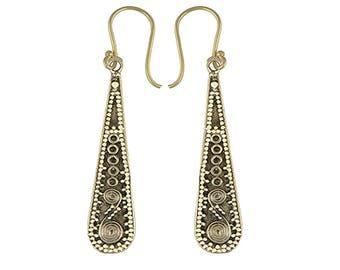 SIA  bohemian brass earrings