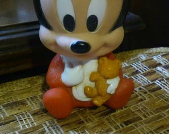 Mickey Mouse Squeeze Toy from the 1980s,