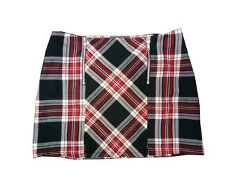 90s Tartan Plaid mini skirt