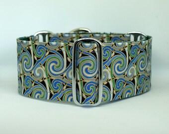 Martingale Dog Collar, Celtic Swirl, handmade in Ireland