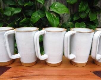 Tall Handmade Mug in Classic White for Samovar Tea by SVEN Ceramics, Handmade Pottery, Ceramic Mug, Wedding Registry, Gift
