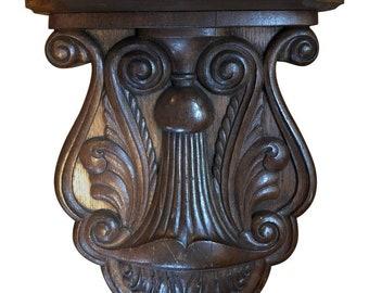 Carved Oak Shelf