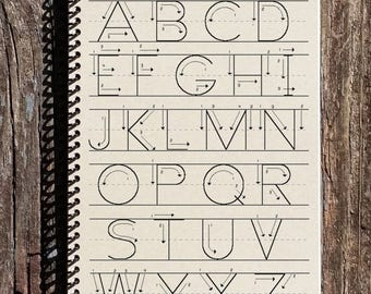 SALE - Alphabet Journal - Teacher Journal - Alphabet Notebook