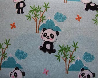 Pandas with bamboo jersey pre cut to 1 meter