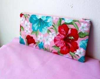 Hawaiian Floral Pencil Case