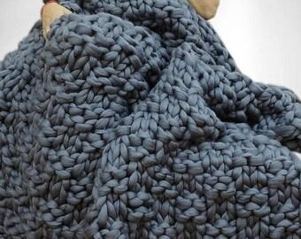SALE Chunky blanket, Merino wool blanket, Chunky knit blanket, Wool blanket, Blanket, Knitted blanket, Knit blanket, Throw Blanket, Blanket
