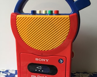Vintage Sony my first Sony cassette tape player