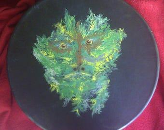 "Forest Guardian 14"" Elk skin shamanic drum"