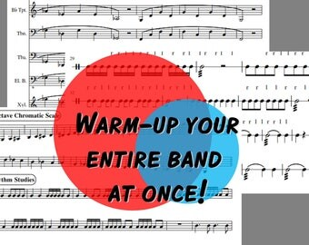 Concert Band Sheet Music Band Warm Up Concert F