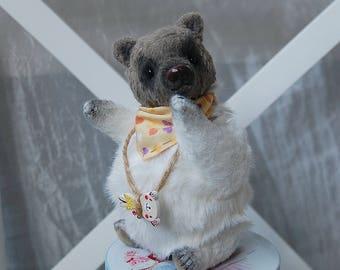 """Small bear, Matilda, teddy bear, 5.9"""",15 cm, artist teddy bears,collectible, ooak, handmade, small bear, teddy bear toy, mohair bear, little"""