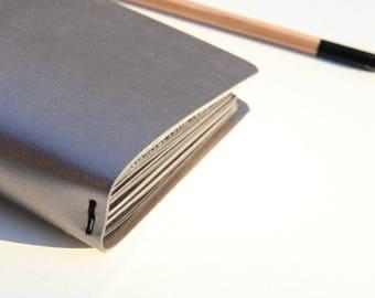 Travelers Notebook Cover Metallic Taupe, Fauxdori, Midori Travelers Notebook Cover, Midori Cover, Vegan Fauxdori, Midori inserts, Large TN