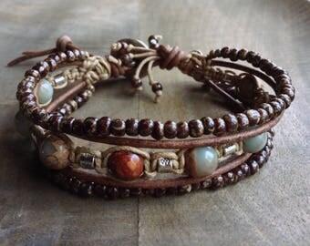 Bohemian bracelet boho chic bracelet rustic bracelet gypsy womens jewelry gemstone bracelet boho chic jewelry boho bracelet rustic jewelry
