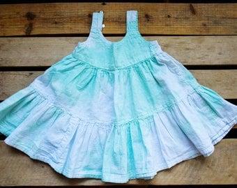 The Kenna Dress - Tie Dyed Dress -  Baby Sundress - Cotton Dress - Hand Dyed Dress - Baby Girl Clothing - Toddler Dress - Summer Dress