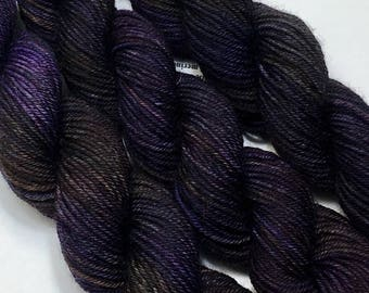 Eggplant - Hand dyed on Authentic Sock Minis