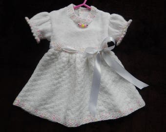 New for 2018 0-6 months hand knitted dress