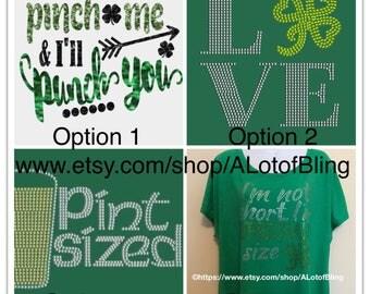 St. Patrick's Day Rhinestone T-Shirt