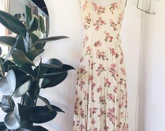 1970s Vintage Prairie Dress