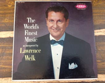 The World's Finest Music as Interpreted by Lawrence Welk Vintage Vinyl Record LP 1957