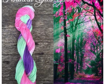 Woodland Sprite hand-dyed cotton yarn