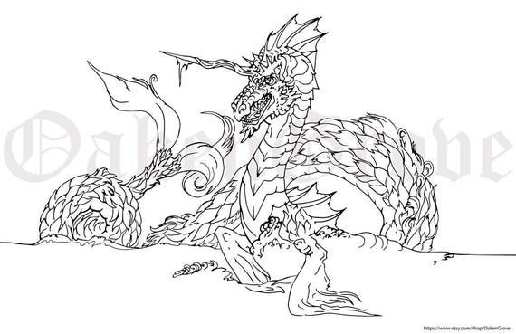 ocean dragon coloring pages - photo#1