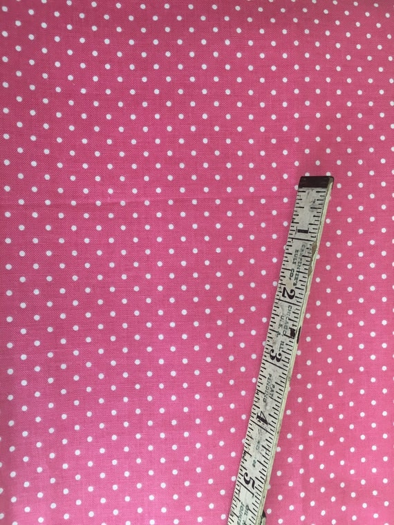 Riley Blake Basics C820-70 Hot Pink Swiss Dot 1 yard Remnant