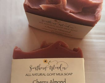 Goat Milk Soap, Cherry Almond, All Natural