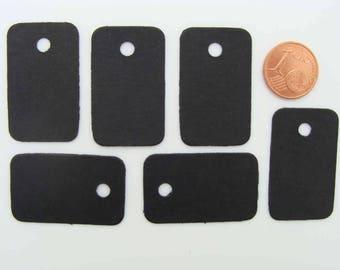 50 Étiquettes carton Noir 33x20mm pour bijoux ou petits objets pour prix ou référence