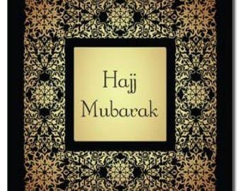 Hajj Mubarak Card Hajj Cards Islamic Cards Muslim Festival Cards