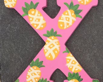 Pineapple Handpainted Letters