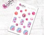 Kawaii Bath Bomb Stickers - Cute Kawaii Planner Stickers ECLP, Happy Planner, TN, Personal Planner etc