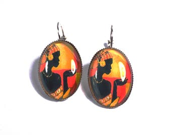Exotics earrings in the colors of Africa