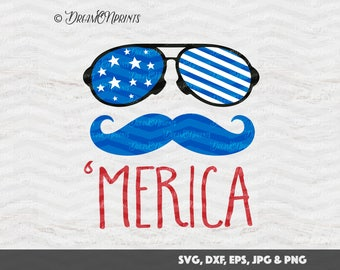 Merica SVG, 4th of July SVG Memorial Day Cut Files, American Flag Svg, Patriotic SVG for Silhouette, Cricut Svg, Htv Svg Shirt Decal SVDP056