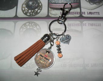 """Sister"" door keys or jewelry bag personalized"