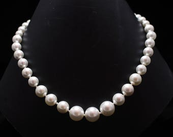 Pearl 925 Sterling Silver Handmade  Necklace