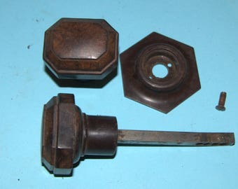 Art Deco set of unusual bakelite knobs for use with a rimlock