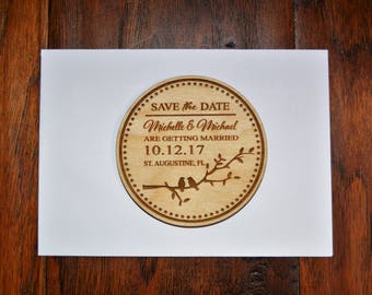 Wedding Save The Date Magnet with envelopes, Wood Save The Date, Save The Date Magnet, Personalized Save The Date Magnet, Wedding Invitation