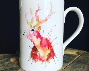 Pink Stag Mug