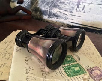 Opera Glasses, Antique Lemaire Fabt Paris Abalone Opera Binoculars, Circa 1880 Mother of Pearl French Opera Glasses