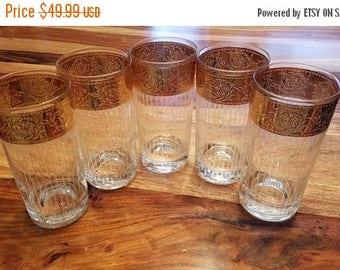 summer25 Midcentury Glassware with Gold Trim